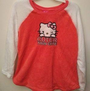 Hello Kitty pj top - M
